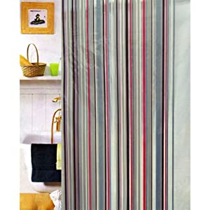 Abstract Art Shower Curtain Red Black Gray White Pinterest