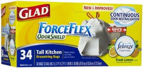 glad-13-gallon-forceflex-odor-shield-fabreze-fresh-lemon-scent-drawstring-tall-kitchen-bags-34-ct-by