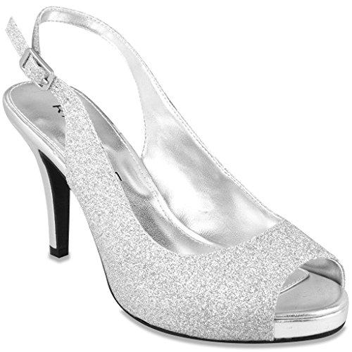 Rampage Fasher Women's Heel Silver 10