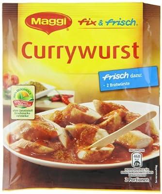 Maggi Fix & Frisch Currywurst, 20er Pack (20 x 40 g Beutel) von Maggi - Gewürze Shop