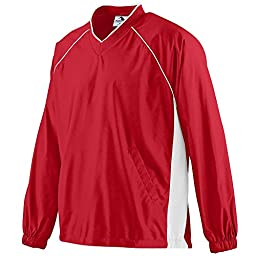 Augusta Sportswear Boys\' Micro Poly Pullover Jacket S Red/White