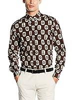 Dolce & Gabbana Camisa Hombre (Marrón Oscuro)