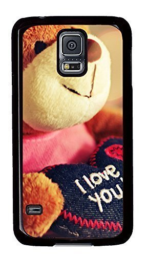 design Samsung Galaxy S5 cover I Love You Doll Quotess PC Black Custom Samsung Galaxy S5 Case Cover wangjiang maoyi