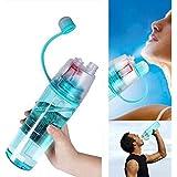 Water Bottle Mist Spray Water Bottle For Sports Outdoor Cycling Sports Gym Drinking Water Mist Spray Water Bottle...