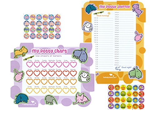 Ultimate Potty Training Charts for Boys and Potty training Charts for Girls. The Ultimate Potty Chart Comes Complete with Laminated Potty Chart, Laminated Journal, Stickers, and Reward Certificate. Potty Training Charts Are a Great Motivation and Incentive Tool for Potty Training Toddlers, 2 Year Olds, 3 Year olds, and Older. Get the Ultimate Potty Training Chart and Help Your Toddler Get Out of Diapers Faster. (Potty Training Girls Chart compare prices)