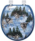 Ginsey Wolves Soft Toilet Seat