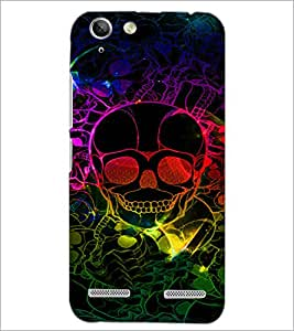 PrintDhaba Digital Skull D-4774 Back Case Cover for LENOVO A6020a46 (Multi-Coloured)