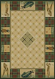 Traditional Area Rug, United Weavers Genesis Collection 4\'x5\' Classic Open Natural
