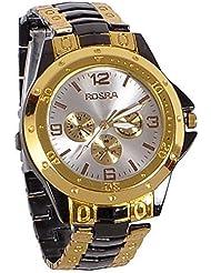 KISSU Brand Stylish & Designer Watch Full Golden And Black Rosra
