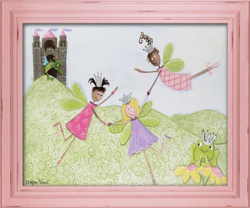 "Doodlefish Framed 24""x20"" Wall Art, Princess Picnic"