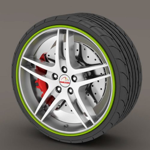 Kabis Car Rimblades Green Lime Color Alloy Wheel
