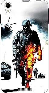 Cliche Printed Back Cover For Lava X1 Atom