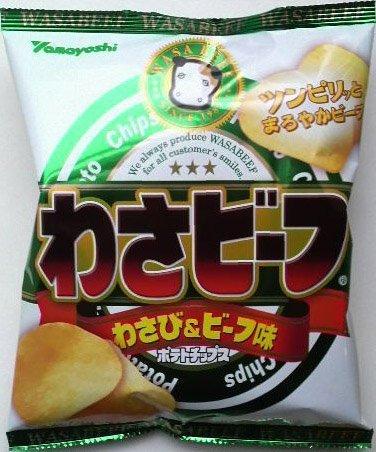 Yamayoshi Hot Wasabi Potato Chips, Wasa-beef 2.1oz by Yamayoshi Wasabeef