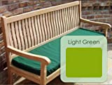 4 Seater (1.7m / 5.6ft) Classic Garden Bench Cushion - Apple Green