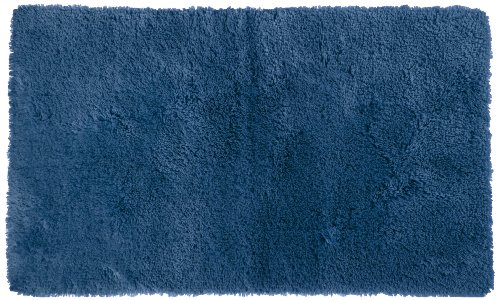 Crowning Touch By Welspun Ecct-Btrg-Rg33-02 Nylon And Polyester Bath Rug, 20 By 34-Inch, Denim front-1071840