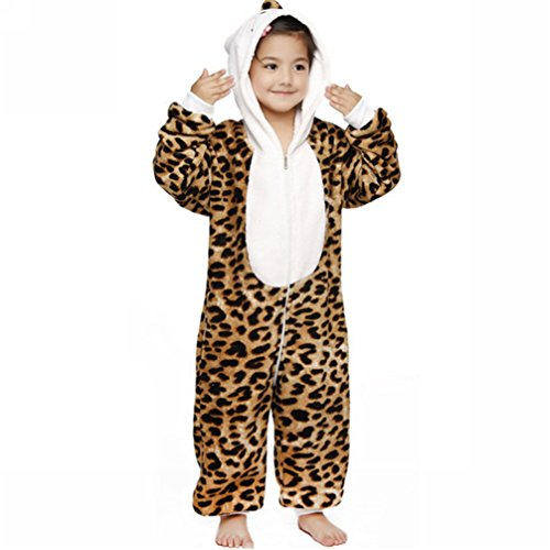 Anim-Unisex Kigurumi Pajamas Kids Costume Animal Pyjamas-leopard cat