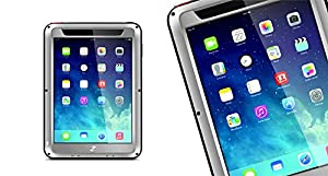 Crazyproof Aluminium Metal Waterproof Water Proof Water Resistant Gorilla Glass Shockproof Shock Proof Hard Drive Cases Cover for Smartphone Apple iPad Mini Lovemei (Silver)Customer reviews and more information