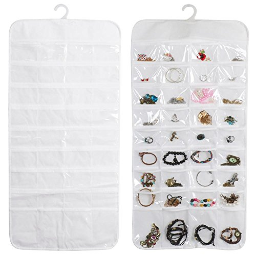 Jewelry Hanging Storage Organizer 72 Pocket Holder Earring Bag Pouch Display (Egg Centrifuge compare prices)