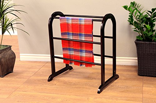Frenchi Home Furnishing Quilt Rack, Cherry Finish