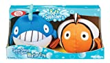 POOF-Slinky 263BL POOF Whale and Angelfish Bath Splashers Soft Water Toys for Bathtubs and Pools, 2-Pack