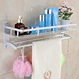 Space Aluminum Bathroom Towel Rack Holder Wall Storage Shelf