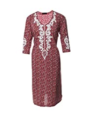 Azra Jamil Fine Cotton Multicolor Sequined Hand Work Traditional Kurti For Women