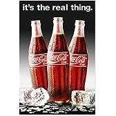 ポスター コカコーラ COCA COLA real thing ボトル ビン 瓶