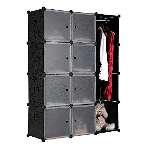 Songmics diy armoire penderie cubes tag re de rangement - Armoire de rangement en plastique ...