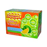Alacer Emergen-C Vitamin C Fizzy Drink Mix Lite Citrus - 1000 mg - 30 Packets
