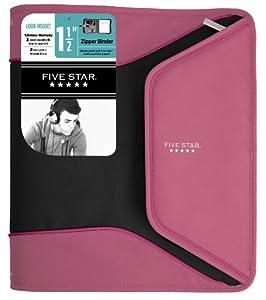 Five Star 1.5 Inch Tech Binder, Pink (72717)