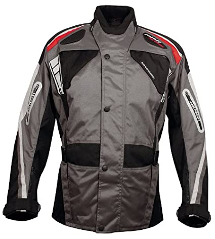 Roleff Racewear 5274 Kodra Jacket Genua RO 527, Noir/Gris/Rouge, L