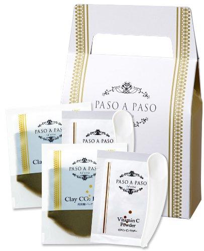 炭酸パック フェイスパック 泥炭酸パック 2包 PASO A PASO パソアパソ