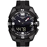 Tissot Men's 'T-Touch Expert' Swiss Quartz Titanium and Silicone Dress Watch, Color:Black (Model: T0914204705701) (Color: Black/Black, Tamaño: One Size)