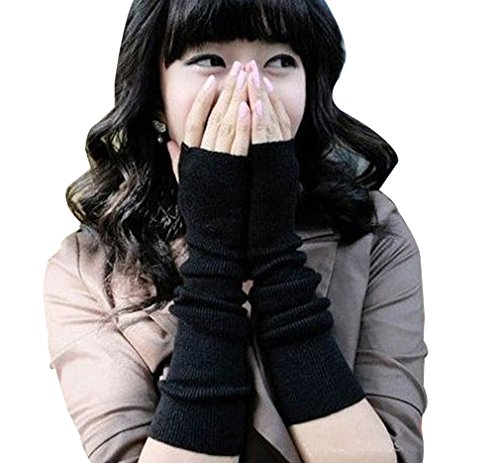 reine--la-mode-Gants-Tresse-Tricote-Oversleeve-Main-Bras-Plus-Chaud-Mitaine-Sans-Doigts