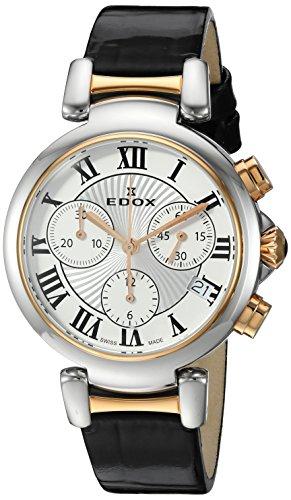 Edox-Womens-10220-357RC-AR-LaPassion-Analog-Display-Swiss-Quartz-Black-Watch
