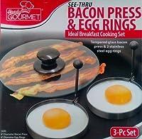 Handy Gourmet Bacon Press & Egg Rings-Making Breakfast Easy
