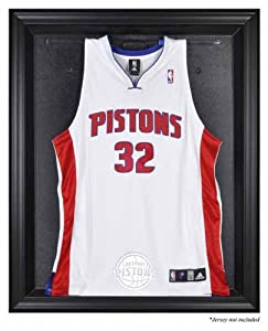 Detroit Pistons Brown Framed Logo Jersey Display Case by My Sports Shop
