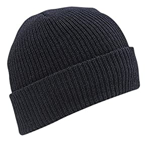 WIGWAM MILLS INC F4707 WORSTED WOOL WATCH CAP,One Size,Black