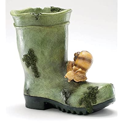 Snail welly boot planter