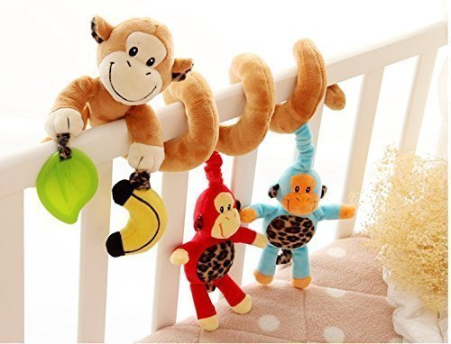 Bumud Infant Baby Activity Spiral Bed & Stroller Toy (Monkey)