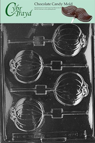 Cybrtrayd H088 Halloween Chocolate Candy Mold, Plain Pumpkin Lolly