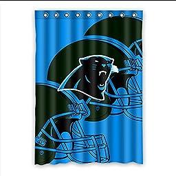 Generic Custom NFL Carolina Panthers Window Curtain Drape/Panel Shading Polyester Fabric 52 Inches x 72 Inches