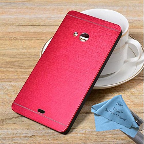 CZap Motomo Full Metal Protective Hard Back Case Cover for Microsoft Nokia Lumia 540 - Red