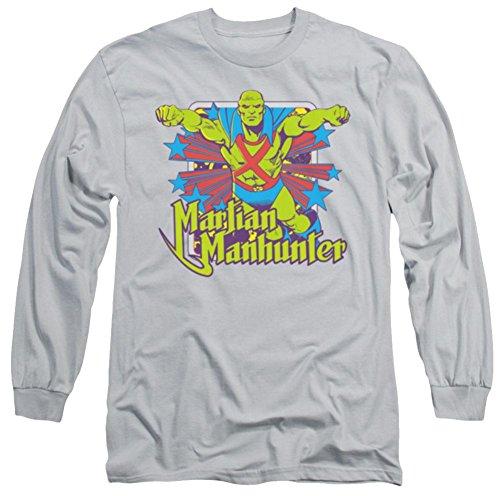 Martian Manhunter Stars Long Sleeve T-Shirt