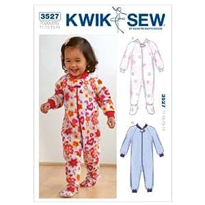 Kwik Sew K3527 Sleepers Sewing Pattern, Size T1-T2-T3-T4
