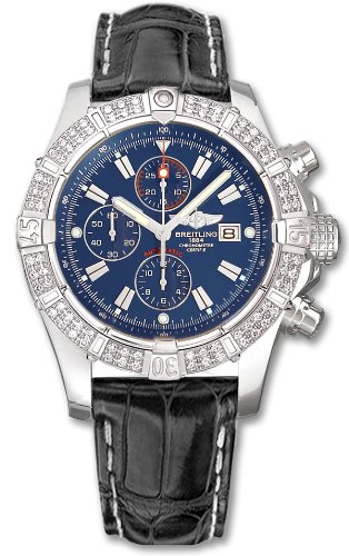 NEW BREITLING SUPER AVENGER DIAMOND MENS WATCH A1337053/C757