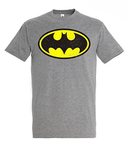 Youth Designz -  T-shirt - Collo a U  - Maniche corte  - Uomo Erica grigio X-Large