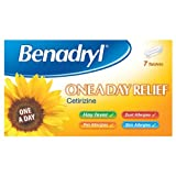 Benadryl One a Day Relief Daily Allergy Tablets 7 Tablets - Pack of 6