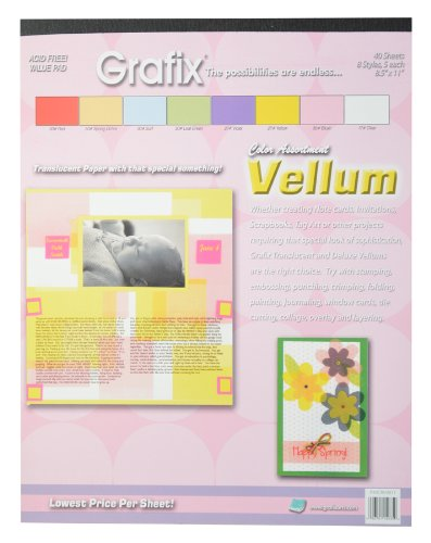 Vellum Pad Color 8.5-Inch-by-11-Inch, 40 Sheets