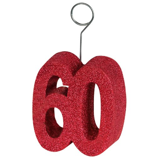 "Beistle 50751-60 Glittered ""60"" Photo Balloon Holder"